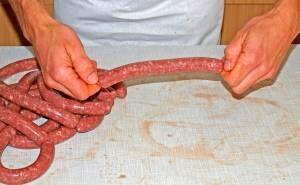 Grillwurst abdrehen